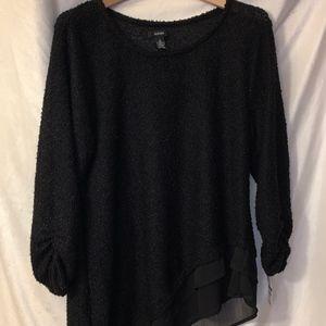 Alfani Black Asymmetric Sweater Tunic